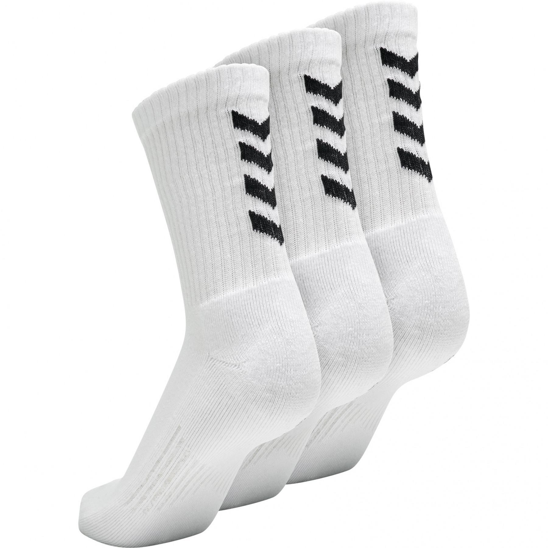 Set van 3 sokken Hummel Fundamental