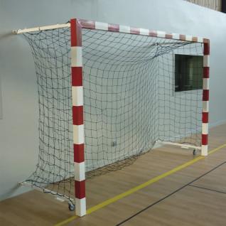 Paar aluminium competitie handbal doelen opvouwbaar aan de muur 0.90 tot 1.40m Sporti France