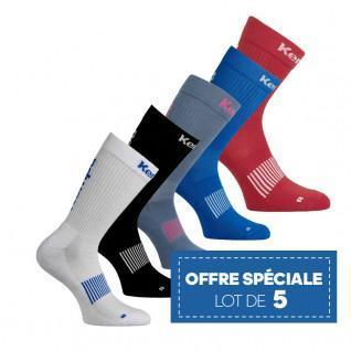 set van 5 paar Kempa Classic Logo sokken