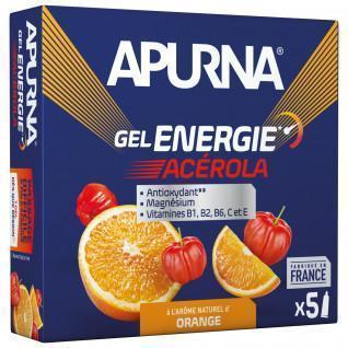Set van 5 gels Apurna Energie Acérola Orange - 35g