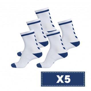 Set van 5 paar lichtgekleurde sokken Hummel Elite Indoor Low