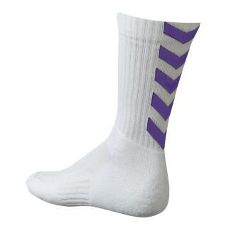 Hummel Authentieke Indoor Sokken - wit/violet