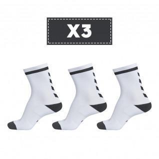 Set van 3 paar lichtgekleurde sokken Hummel Elite Indoor Low