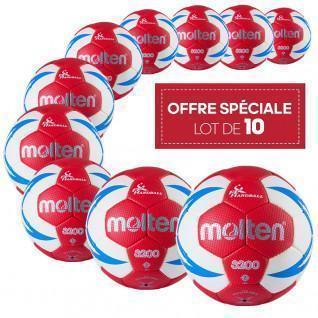 Pak van 10 trainingsballen Molten HX3200 FFHB