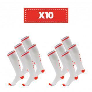 Pak van 10 paar doorzichtige sokken Hummel Elite Indoor high