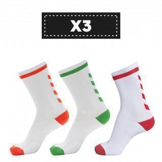 Set van 3 paar lichtgekleurde sokken Hummel Elite Indoor Low (coloris au choix)