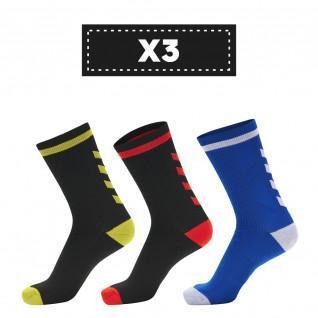 Set van 3 paar donkere sokken Hummel Elite Indoor Low (coloris au choix)