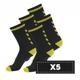 Pakket van 5 paar donkere Hummel Elite Indoor Lage sokken