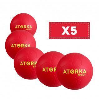 Set van 5 strandhandballen Atorka HB500B