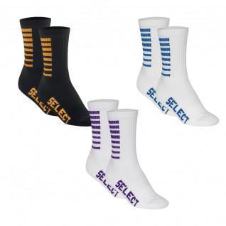 Set van 3 paar Select Sports Striped Socks (keuze van de kleuren)