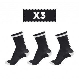 Set van 3 paar donkere sokken Hummel Elite Indoor Low
