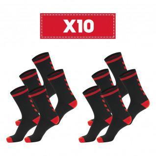 Pakket van 10 paar donkere Hummel Elite Indoor Lage sokken
